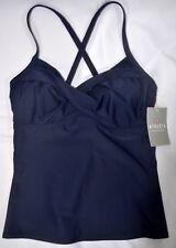 NWT $72 Athleta Twister Tankini Swim Top Dress Blue Swimsuit Current Season