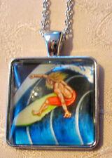 Halskette Wellenreiten Surfen Necklace Surf Anhänger Surfboard