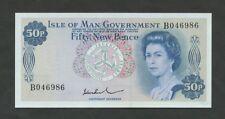 ISLE OF MAN  QEII  50p  1975  P28b  Uncirculated   Banknotes
