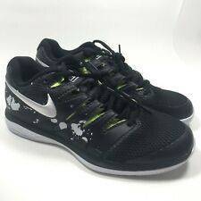 Nike Zoom Vapor X HC  Tennis Shoes SZ 10 -Black White Green- AV3911 001 Mens