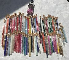 vintage 65 plus GLASS Seed TUBE beads SEQUIN corked GLASS tubes CRAFT repair LOT