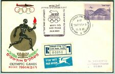 Israel Olympische Spiele Olympic Games 1960 R letter Olympic flight Lod-Rome