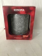 Sonoma Scented Wax Cube Warmer-electric warmer Silver  NEW