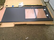 "NIB PELLA 36"" x 82"" Brown STORM DOOR w/ Half-View Glass & RETRACTABLE Screen"
