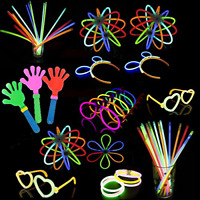 Glow In The Dark Stick Sticks Bracelets Necklaces Lot Necklace Party Favors Pack