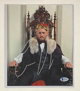 "Conor McGregor Signed 8x10 "" The King "" UFC Photo Autograph Beckett BAS COA"
