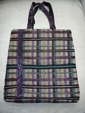 WHISTLES Glitzy Tote Bag Purple Blue Silver SILKY Large Handbag Shopper LTD FAB!