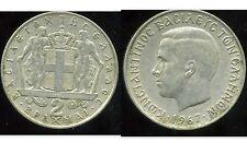 GRECE  2 drachmai 1967  ( bis )