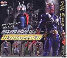 Bandai Kamen Masked Rider Ultimate Solid 1 Set of 6 Gashapon 100% New Authentic