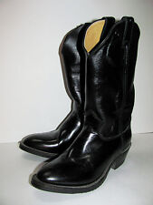 Justin Men's Black Melo-Veal Boot , Size 8.5B