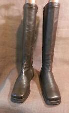 FACONNABLE bottes semelles compensées CUIR agneau marron 38.5 TRES BON ETAT