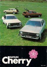 Datsun Nissan Cherry 1979-80 UK Market Brochure Hatchback Saloon Coupe Estate