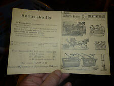 Petit dépliant Materiel Agricole Jannel Martinvelle Vosges Faucheuse Javeleuse