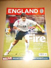 ENGLAND V HUNGARY WORLD CUP QUALIFYING 2006 FOOTBALL PROGRAMME *UK FREEPOST*