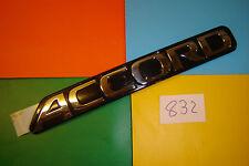 GENUINE HONDA ACCORD BLACK & CHROME PLASTIC REAR BADGE EMBLEM. 75722-SN7-G00