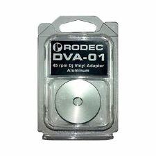 Rodec DVA-01 Single Vinyl Adapter 45 RPM DJ Turntable Aluminium