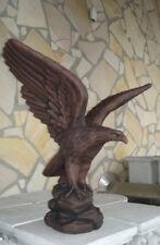 Gartenfiguren Adlerfigur, Steinstatue 60 cm, Vögel, Adler, Steinguss, Gartendeko
