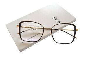Götti Dolly Titanium Eyeglasses - Colour Gold & Berry