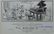 PUBLICITE THE AEOLIAN DUO ART PIANO OPERA SALON ART DECO DE 1925 FRENCH AD PUB