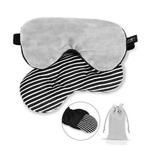 Silk Cooling Weighted Sleep Eye Mask-Relief for Headache/Migraine Gray