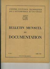 (51) Revue Centre Etudes Techniques Automobile et Cycle (CTA) Mars 1949