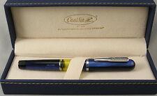 Conklin Heritage Word Gauge Blue & Chrome Fountain Pen - Medium Nib - New