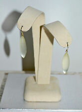 NWT $95 Alexis Bittar Small Sliver 'Lucite - Neo Bohemian' Earrings Ivory Color
