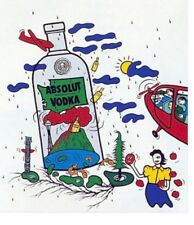 """Absolut 26"""" x 40"""" WASHINGTON Statehood Lithograph Printer's Private Collection"""