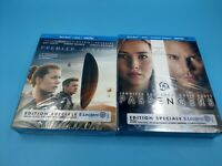 neuf lot de 2 film blu ray premier contact passengers