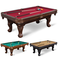 Classic 87-inch Billiards Table Family Room Games Pool Table Multiple Colors NEW
