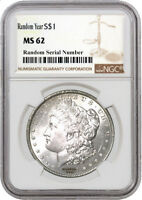 Random Year (1878 - 1904) $1 Morgan Silver Dollar NGC MS62