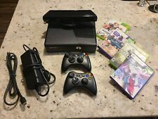 New listing Tested Xbox 360 S 4Gb Black Console 1439 w/Kinect, Cords, 2 Controllers, 4 Games