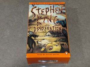 DESPERATION by Stephen King 6-Tape Cassette Audiobook Read by Kathy Bates 9 Hrs