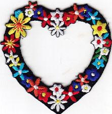 FLOWER HEART - BIKER - WOODSTOCK - LOVE - PEACE - SUMMER - Iron On Patch