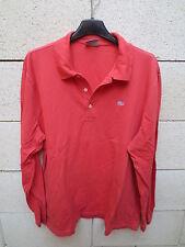 Polo LACOSTE Devanlay rouge clair coton shirt 6 manches longues étiquette grise