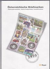 Ö 1999 Jahreszusammenstellung mit Aufstellung Postfrisch ** MNH
