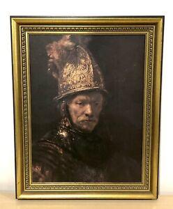 Vintage Rembrandt The Man With The Golden Helmet framed 70 x 55cm