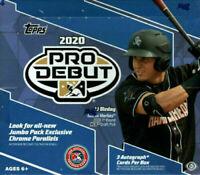 2020 Topps Pro Debut Hobby Jumbo Baseball Factory Sealed Box