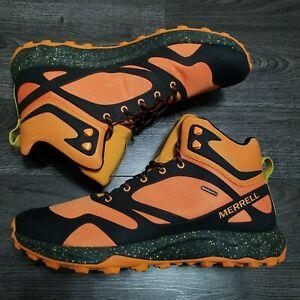 MERRELL Altalight Knit Mid Hiking Boots Mens 15 Waterproof Orange J033967