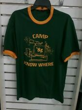 """Levi's Medium Camp Know Where """"Stranger Things""""  T-Shirt, Green and Yellow"""