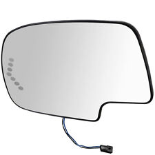 Replacement Side View Heated Turn Signal Mirror Glass LH for Chevy Car 88944391