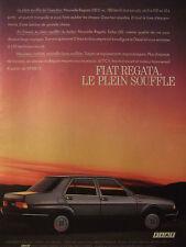 PUBLICITÉ 1986 FIAT REGATA TURBO LE PLEIN SOUFFLE - ADVERTISING