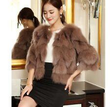 Fur Coats 100% Real Fox Fur Short Coat Jacket Luxurious Fur Clothing soft