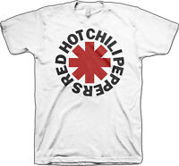 RED HOT CHILI PEPPERS ASTERISK  T SHIRT S-M-L-XL-2XL (White) Brand New Official