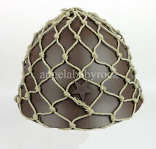 WWII JAPANESE ARMY HELMET WITH HELMET COVER CAMOUFLAGE NET-0195