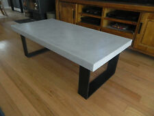 Polished Concrete Coffee Table - Steel legs - Made to order