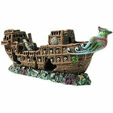 Slocme Aquarium Pirate Ship Decorations Fish Tank Ornaments - Resin Material Pet