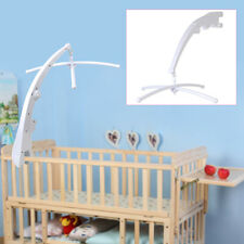 White Plastic Baby Kid Music Rotate Bed Crib Mobile Bell Toy Holder Arm Bracket