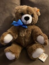 Mint Steiff Plush Molly Teddy Bear Nwt 17 Inch w Blue Ribbon Rare