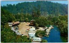 REQUA, California CA  Roadside  PANTHER CREEK LODGE  ca 1950s Trailers Postcard